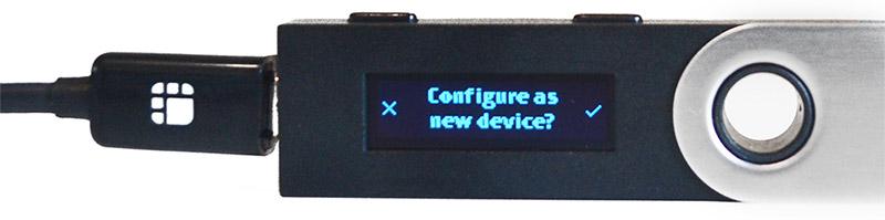 Ledger Nano S: Configureren als nieuw apparaat