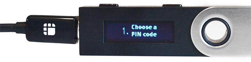 Ledger Nano S: Pincode instellen