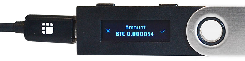 Ledger Nano S: Transactie bevestigen